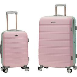 Rockland Luggage Melbourne 2-Piece Spinner Luggage Set