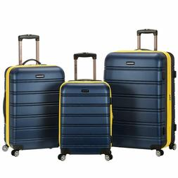 Rockland Melbourne 3 Pc Abs Luggage Set, Navy