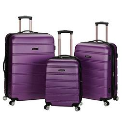 Rockland Melbourne 360 Degree Spinner 3 Pc Luggage Set - Pur