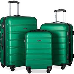 Merax Mellowdy 3 Piece Set Spinner Luggage Expandable Travel