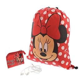 Minnie Mouse Girls Backpack Headphones and Coin Purse Gift S