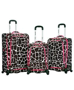 Rockland Luggage 3 Piece Monte Carlo Spinner Luggage Set