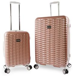 Multi-Compartment Rolling Hardside Spinner Luggage 2-Piece S