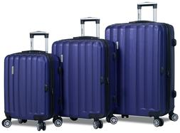 Navy Hard Case 3PC Rolling Spinner Luggage Suitcase Set - TS