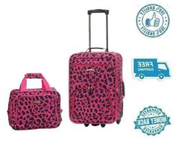 "New 19"" Pink Women Carrier Luggage Set Travel Bag Girl Polye"