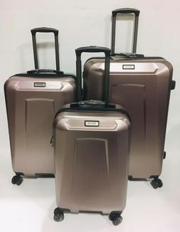 new 3pc spinner perks luggage set rose