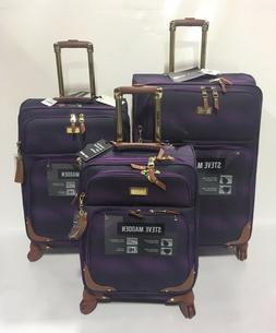 NEW 3PC STEVE MADDEN SPINNER SHADOW COLLECTION LUGGAGE SET $