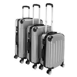 "New 3PCS 20/24/28"" Luggage Travel Bag ABS Trolley Hard Shell"