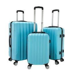 New 3PCS Luggage Travel Set Bag ABS Trolley Hard Shell Suitc