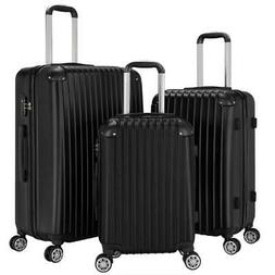 New 3Pcs Travel Luggage Bag ABS Trolley Spinner Suitcase TSA