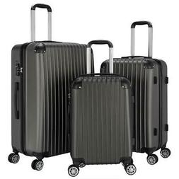 New 3Pcs Travel Luggage Set Boarding Trolley Suitcase Truely