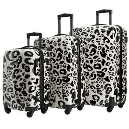 Kensie New BEIGE LEOPARD Luggage 3 PC  SET NOT Expandable Ha