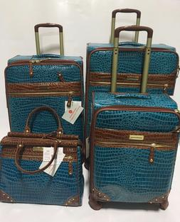 NEW SAMANTHA BROWN BRAVO BLUE CLASSIC 4PC SPINNER LUGGAGE SE