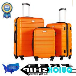 NEW- Coolife Luggage 3 Piece Set Suitcase Spinner Hardshell