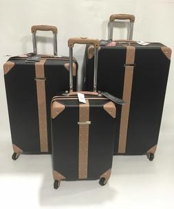 NEW VINCE CAMUTO LAURRA 2PC LUGGAGE SET SPINNER WHEELS BLACK