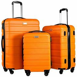 NEW Coolife Luggage 3 Piece Set Suitcase Spinner Hardshell L