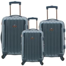 Kensie NEW NAVY / ROSE GOLD Luggage 3 PC  SET Expandable Har