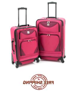 NEW Protege 2-Piece Expandable 360 Spinner Set Luggage Trave