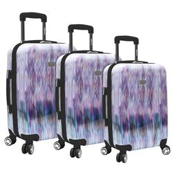 NEW Steve Madden 3 Piece Hard Case Large Luggage With Spinne