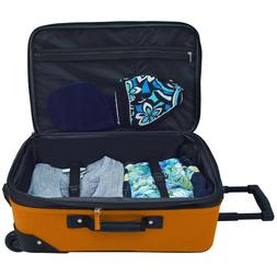 New U.S. Traveler Rio 2-Piece Carry-On Luggage Set With Full