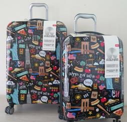 IT Luggage New York City NYC 2 Piece Hardside Expandable Spi