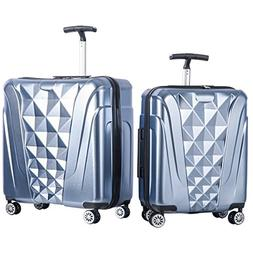 Merax Newest 2 Piece Luggage Set TSA Approved Luxurious Suit