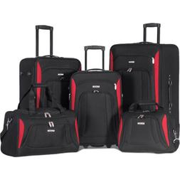 Merax Newest 5 Piece Luggage Set Softshell Expandable Rollin