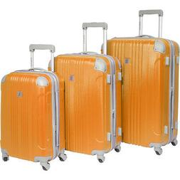 newport 3 piece spinner luggage set new