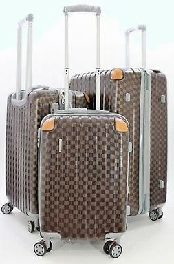 NWT COFFEE ABS+PC SPINNER HARDCASE SUITCASE LUGGAGE UPRIGHT