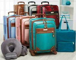 Samantha Brown Ombre Croco Embossed 6 Piece Luggage Set SEE
