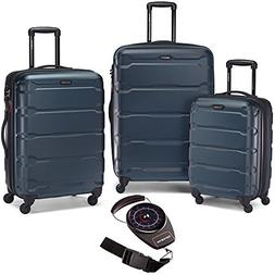 Samsonite Omni Hardside Luggage Nested Spinner Set Teal with