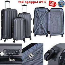 ON SALE 3 Piece Spinner Wheel Suitcase Men Luggage Set Hards