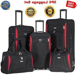 ON SALE Softshell Wheel Luggage Set of 5 for Men Women Trave