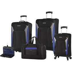 Nautica Open Seas 5 Piece Luggage-Set, Black