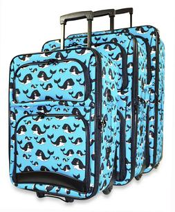Orca Whale Expandable 3 pc Piece Luggage Set for Travel Soft