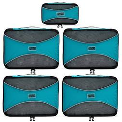 PRO Packing Cubes | 5 Piece | Organizers & Space Saver | Tra