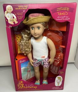 "Our Generation 18"" Travel Doll JOANIE with Book + Extras  NE"