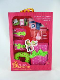 """OUR GENERATION Luggage and Travel Accessory Set for 18"""" Doll"""