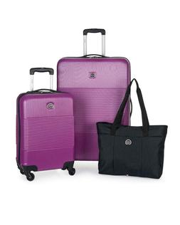DELSEY Paris 3-Piece Hardside Set Carry-on, Checked Suitcase