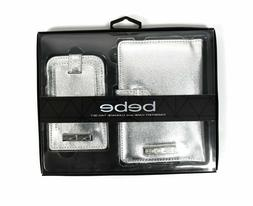 Bebe Passport Case and Luggage Tag Travel Set - Silver