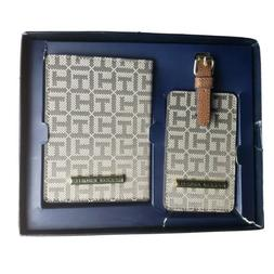 Tommy Hilfiger Passport Holder and Luggage Tag Gift Set Blac
