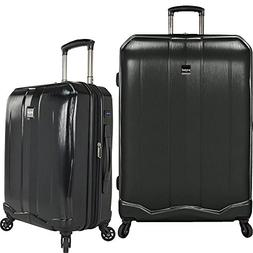US Traveler Unisex Piazza 2-Piece Smart Spinner Luggage Set