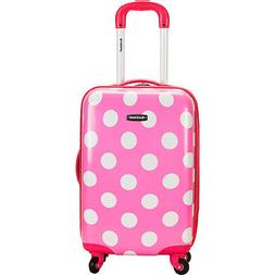 "Rockland Pink Dot 20"" Carry-On"