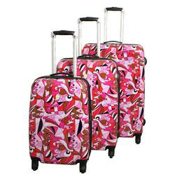 Dejuno Pop Art 3-Piece Lightweight Hardside Spinner Luggage