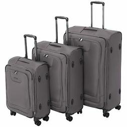 AmazonBasics Premium Expandable Softside Spinner Luggage Wit