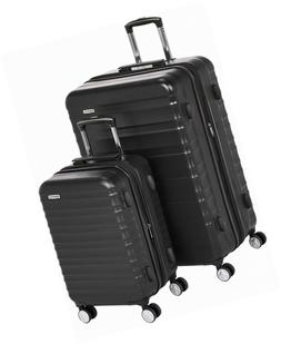 AmazonBasics Premium Hardside Spinner Luggage with Built-In