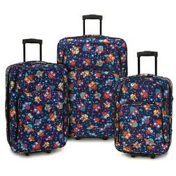 PREMIUM Elite Luggage Owls 3-Piece Expandable Rolling Luggag