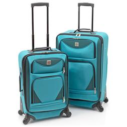 Protege 2-Piece Teal Expandable Spinner Upright Luggage Set