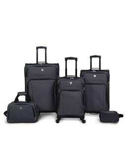 protege 5 piece spinner luggage set grey