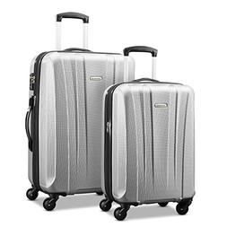 Samsonite Pulse Dlx Lightweight 2 Piece Hardside Set , Silve